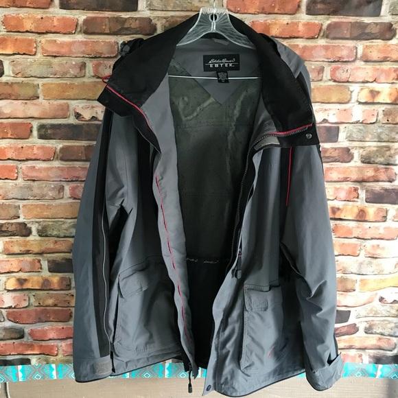 f1373c0b39d6 Eddie Bauer Other - Eddie Bauer Ebtek Grey Gore Tex Rain Parka